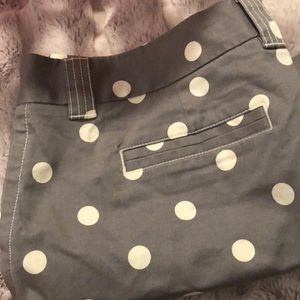 JCREW Polka- Dot shorts- Size 14